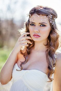 Gold Halo Bohemian Pearled Headpiece by Megantheresecouture, £130.00