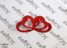 Открытка со спиральными сердечками