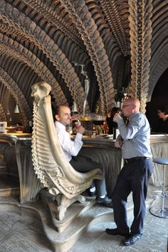 The Museum HR Giger Bar located in Chateau St. Germain, Gruyers, Switzerland which opened on April 12, 2003.