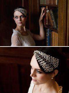 Kelly Spence fern shaped bridal hair accessory