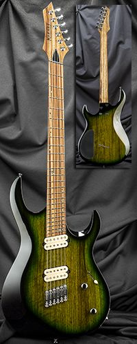 Kiesel Guitars AM6 24 Fret Multiscale Fanned-Fret Bolt-On Neck Guitar Serial Number 129021