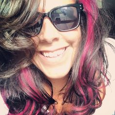 Fuchsia hair! Pravana Vivids hair color (wild orchid)... Bravado - the Salon (Dennis)