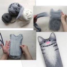 Felted phone cat case