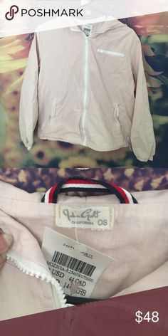 NWT Brandy Melville Krissy Jacket new with tags - light pink, krissy jacket, cotton, not windbreaker material, one size, WILL TRADE FOR SEA FOAM GREEN POLLY WINDBREAKER! Brandy Melville Jackets & Coats