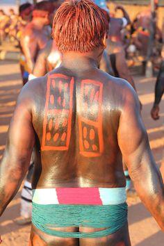 Xingu region brazilian indian pintura corporal indigena - Google Search