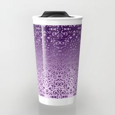 SOLD Baroque Style Inspiration G155 Travel Mug! https://society6.com/product/baroque-style-inspiration-g155_travel-mug#s6-1667328p46a59v436 #Society6 #Travel #Mug #Baroque #damask #floral #purple #glossy #pattern #abstract