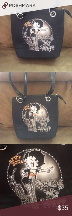 Betty Boop purse Black Betty Boop purse. Excellent condition. betty boop Bags