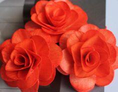 Wood Birch Flower  Orange/Tangerine by itsallaboutflower76 on Etsy, $8.50