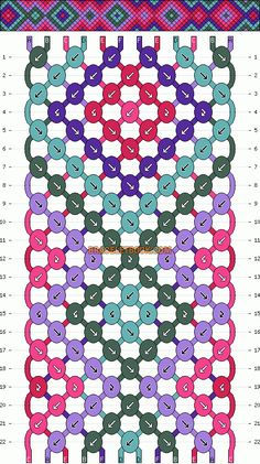 Normal Friendship Bracelet Pattern #4378 - BraceletBook.com