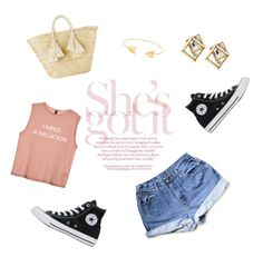 """""""She's got it"""" by starstruck-dreams ❤ liked on Polyvore featuring Converse, Giselle and Lord & Taylor"""