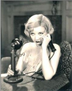 Silent movie star #AliceWhite with choker length #pearlnecklace, cute and quirky Click on image to discover the same item by Carla Pearls!