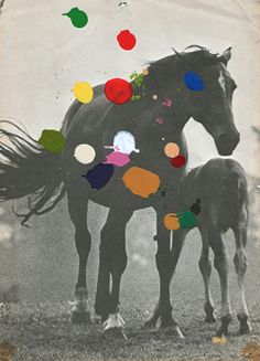 """PONY"" Art Print by Beth Hoeckel Collage & Design on Society6."