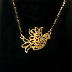 Delicate Dove Necklace in Gold or SilverBird Jewelry