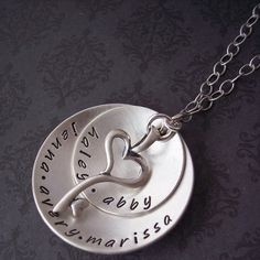 Hand Stamped Jewelry  Sterling Personalized by SayAnythingJewelry, $77.00