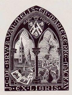 Bookplate by M. C. Escher