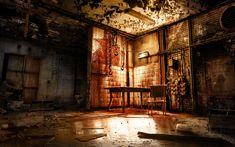 halloween escape playground killers dark horror backgrounds spooky macabre painting alone decorations wallpapers