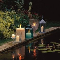 Candles poolside  #candlelight
