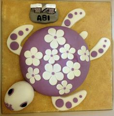 Beached Turtle. Based on a littl girls favourite soft toy. Challenge O and O Cakes to design you a masterpiece. They love a challenge.