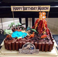 Jurassic World themed birthday cake!