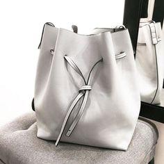 This white bucket bag though. #gorgeous
