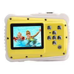 Kids CameraeTTgear PPJ52 Underwater Action Camera Waterproof Dustproof Kids Camcorder 5M PixelsYellow -- You can get additional details at the image link.