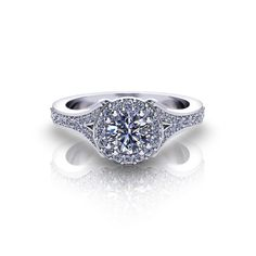 Another Look at Our Split Halo Engagement Ring