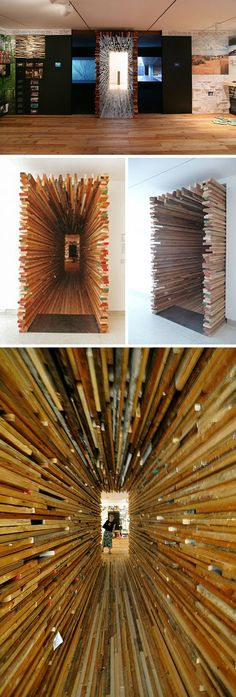Interesting artistic passageway by Sebastian-Mariscal. MCASD installation multi collabcubed.