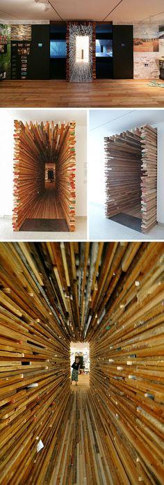 2x4 entrance instillation by Sebastian Mariscal