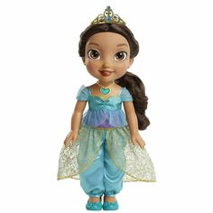 Disney Princess Sing and Shimmer Toddler Doll - Jasmine. Shimmer with Pri. Disney Princess Toddler Dolls, Disney Princess Jasmine, Disney With A Toddler, Barbie Doll Set, Bratz Doll, Minnie Mouse Toys, Images Disney, Baby Girl Dolls, Barbie Accessories