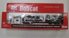 Bobcat Peterbilt 379 Tractor With Flatbed Trailer and Bobcat Equipment 1 50 for sale online Custom Hot Wheels, Hot Wheels Cars, Flatbed Trailer, Trailers, Toy Trucks, Fire Trucks, Kids Power Wheels, Bobcat Equipment, Wrangler Shirts