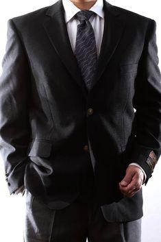 6aa6b9bf8075f MENS SINGLE BREASTED 2 BUTTON BLACK BLAZER SIZE 42S PL-J60212C-BLK  fashion