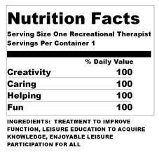 One Serving Of Recreation Therapy