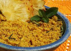 Farofa de Abacaxi com Manjericão | Receita