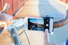 Check out this Handleband Bike Mount for your phone—great for shooting photos and videos.