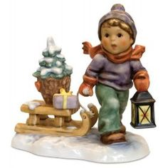 M.I Hummel Christmas is Coming Figurine $459.00 #hummelchristmas #hummelfigurine #hummelchristmasfigurine