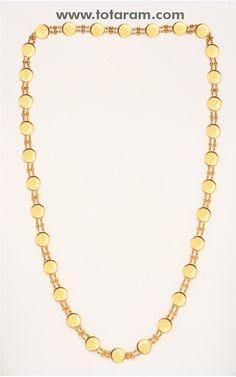 22K Gold Lakshmi Kasu Mala