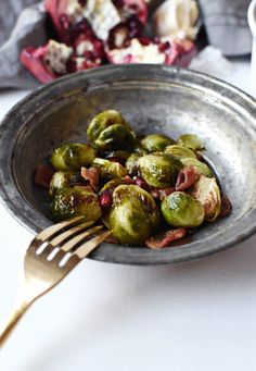 Thanksgiving Brussels Sprouts with Bacon | The Butter Half
