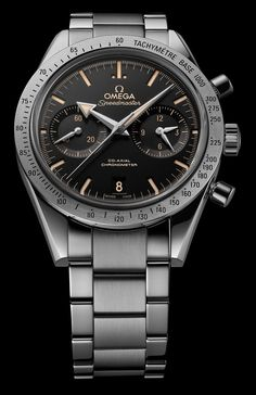 """Omega Speedmaster '57 'Retro Dial' Watch For 2015 - by Ariel Adams - how close can you get to an original classic? Learn & see more on aBlogtoWatch.com """"It happened only two years ago, at Baselworld 2013, that Omega lunched the Omega Speedmaster '57 Co-Axial, a tribute to the original, pre-Moon-Watch Speedmaster. Now, for 2015, we see a slightly updated version that brings the Omega Speedmaster '57 tribute closer than it has ever been to the Daddy of all Speedmasters. Without further ado…"""