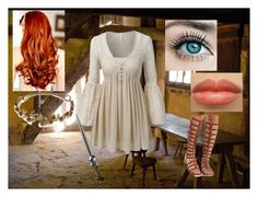 """""""Medieval ( kind of )"""" by liviahopper-1 on Polyvore featuring LE3NO, Bamboo and Jennifer Behr"""
