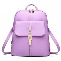 2016 Fashion Women s Leather Backpacks Schoolbags Travel Shoulder Bag  Backpack ee852fece1677