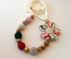 Retro Romantic Chevron Nursing Necklace Teething Necklace Made In Israel by CasaDeGato on Etsy, $24.00