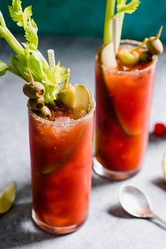 This Mexican Bloody Maria cocktail is made with tequila and lime juice for a fun twist on the classic Bloody Mary. #cocktails #bloodymary #bloodymaria