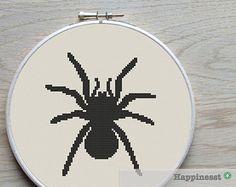 cross stitch pattern spider, tarantula