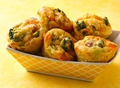 Easy Broccoli, Cheese and Ham Muffins Recipe from Betty Crocker