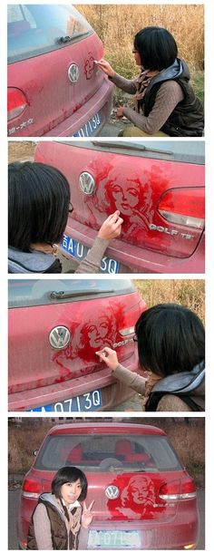 Drawing on dust