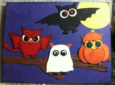 My Halloween Card With Stampin Up Owl Punch