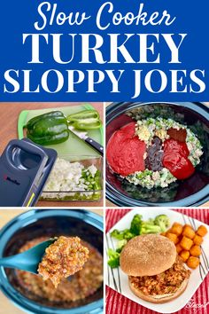 These Slow Cooker Sloppy Joes are a deliciously healthy dinner made with ground turkey and veggies and easy to make using a crockpot. Slow Cooker Sloppy Joes, Sloppy Joes Recipe, Healthy Slow Cooker, Slow Cooker Recipes, Crockpot Recipes, Healthy Recipes On A Budget, Healthy Meal Prep, Healthy Food, Vegan Recipes