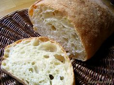 Italian bread with holes without kneading -- requires making on hot stone.
