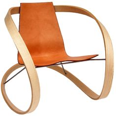 Ribbon Rocking Chair by Award Winning British Designer | From a unique collection of antique and modern rocking chairs at http://www.1stdibs.com/furniture/seating/rocking-chairs/