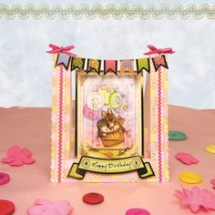 Card made using 'Return to Patchwork Forest Bunting Stepper Card Kit' from the Premium Card Kits range by Hunkydory Crafts Pretty Cards, Cute Cards, Art Deco Cards, Stepper Cards, Hunkydory Crafts, Luxury Card, Card Making Supplies, Little Books, Card Kit